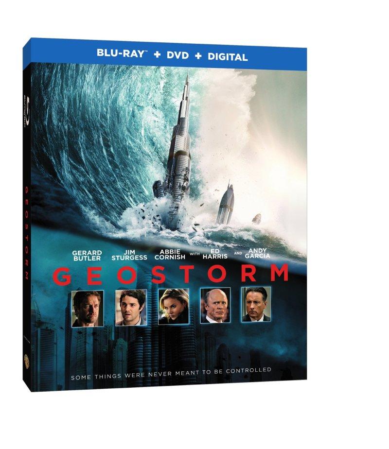 Geostorm Blu-Ray/DVD/Digital HD cover (Warner Bros. Home Entertainment)