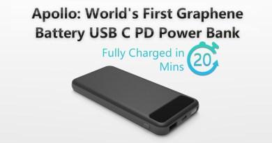 Apollo: World's First Graphene Battery USB C Power Bank