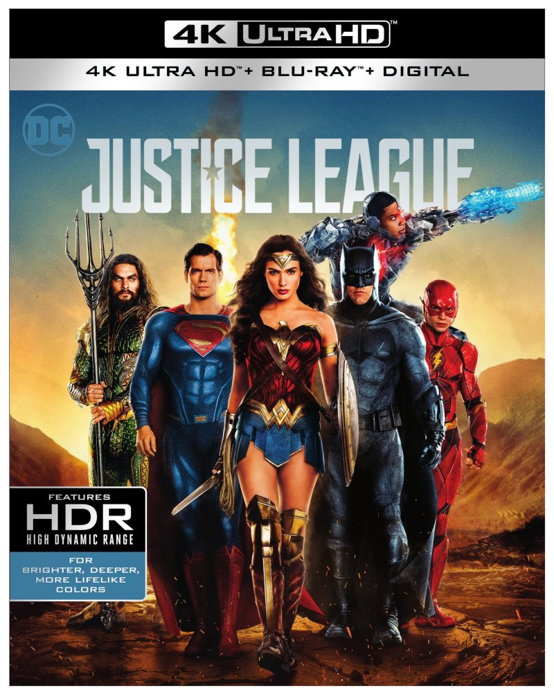 Justice League 4K Ultra HD Combo cover (Warner Bros. Home Entertainment)