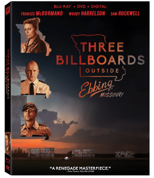 Three Billboards Outside Ebbing, Missouri (20th Century Fox Home Entertainment)