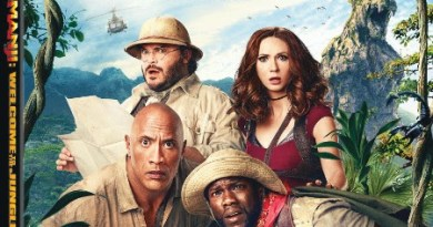 Jumanji: Welcome To The Jungle Blu-Ray Combo cover (Sony Pictures Home Entertainment)