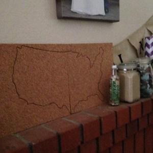 DIY Corkboard Maps