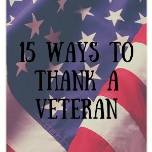 15 Ways To Thank A Veteran