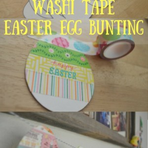 DIY Washi Easter Egg Bunting
