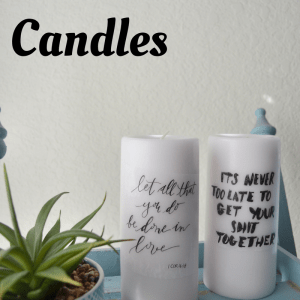DIY Quote Candles