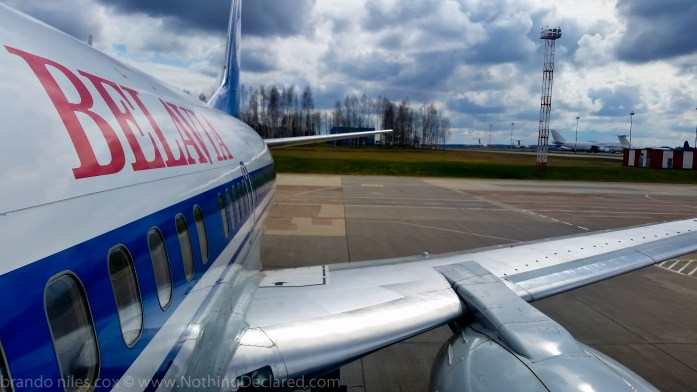 Belavia Airline, Minsk Airport -Brando Cox @ nothingdeclared.com