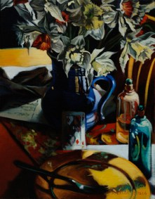 Breakfast With The Queen of Diamonds//oil on linen//Anne Belov // 2006 /all right reserved/