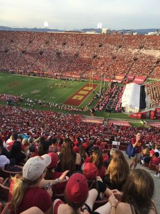 USC Trojans Game, Memorial Coliseum L.A.