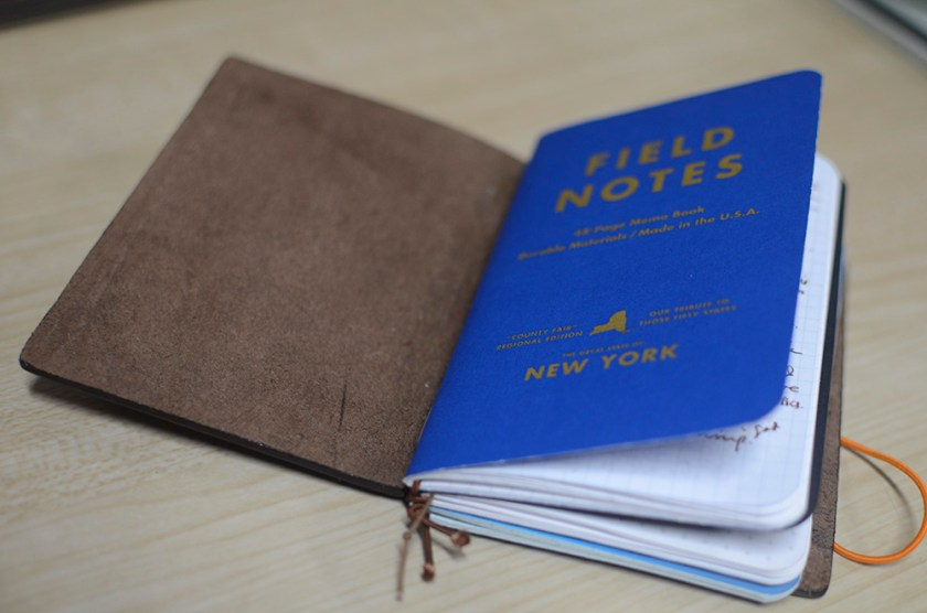 Midori Travelers Notebook - Brown - Field Notes - Refill 1 - County Fair