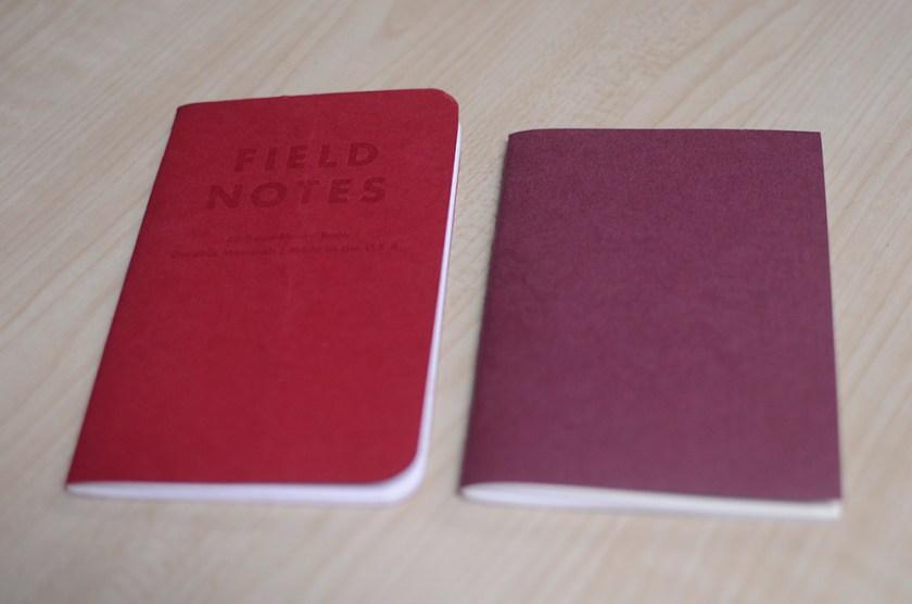 Midori Travelers Notebook - Brown - Field Notes vs Midori Inserts