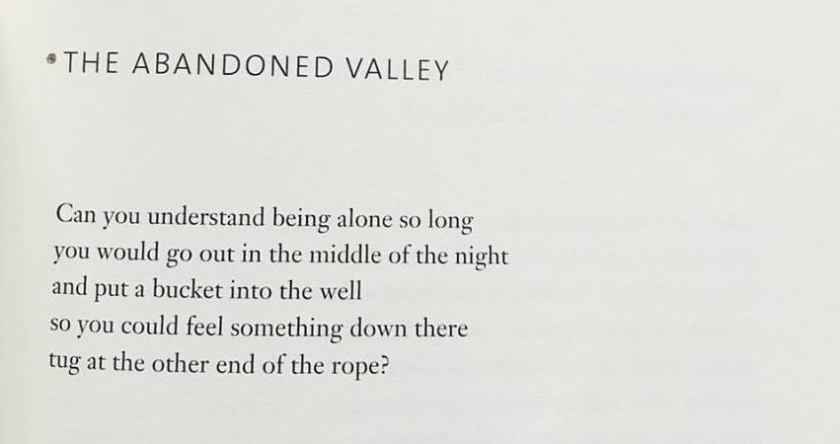 jack gilbert, the abandoned valley
