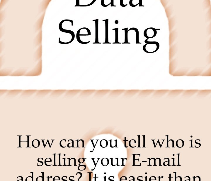 Personal Data Selling