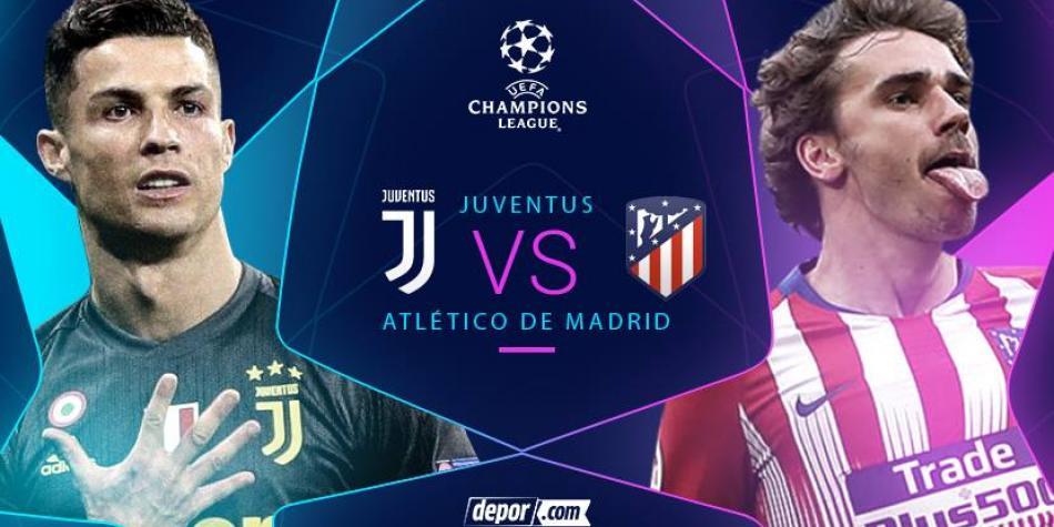 Hoy, Juventus vs Atlético Madrid, por el pase a 4tos de final
