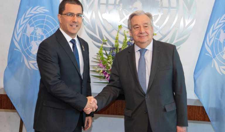 Canciller Arreaza sostuvo reunión con el Secretario General de la ONU