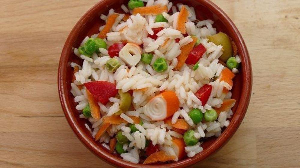¡Rica ensalada de arroz!