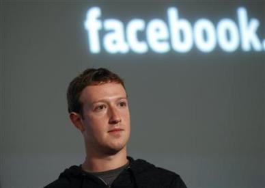 El presidente ejecutivo de Facebook, Mark Zuckerberg, durante una conferencia de prensa en la sede de la firma en Menlo Park, EEUU, ene 15 2013