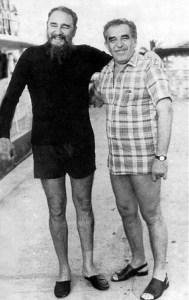 Fidel Castro y Gabriel García Márquez en Cuba.