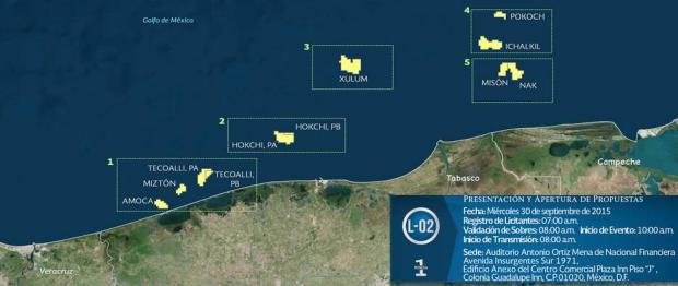 Estos son los campos a ser licitados en 5 contratos durante la segunda fase de la RondaUno.