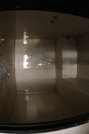 Uno de los baños en el penal de Topo Chico.