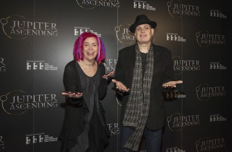 Lana Wachowski and Andy Wachowski seen at the Chicago International Film Festival's screening of Jupiter Ascending at the AMC River East theater, on Wednesday, February 4, 2014 in Chicago. (Photo by Barry Brecheisen/Invision/AP)