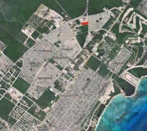 Ubicación en Google Maps del predio cedido por el Ayuntamiento de Solidaridad al diario Por Esto!