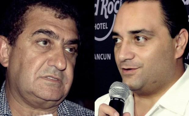 DESENCUENTROS. El hotelero José Chapur y el Gobernador Roberto Borge.