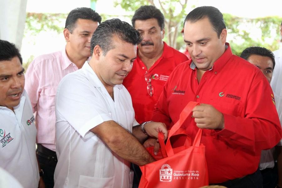 Roberto Borge y Mauricio Góngora, durante la época de auge del programa Basura por Alimentos.