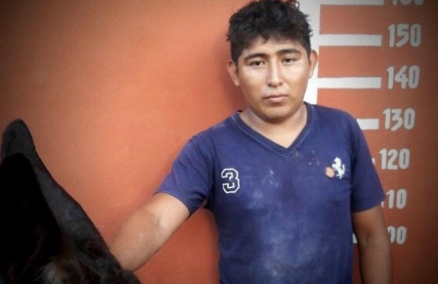 Luis Rodrigo Tec Chalé, de 23 años de edad, el presunto secuestrador del burro.