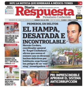 El último número del diario 'Respuesta', ayer miércoles.