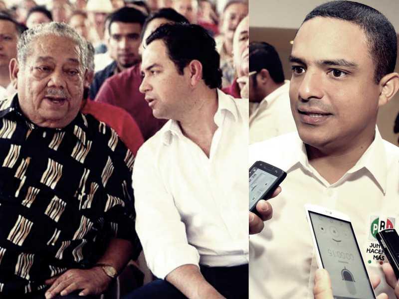 De izquierda a derecha: el ex Gobernador Jesús Martínez Ross conversa con el diputado federal José Luis Toledo Medina. En la segunda foto, Raymundo King, dirigente del PRI en Quintana Roo.
