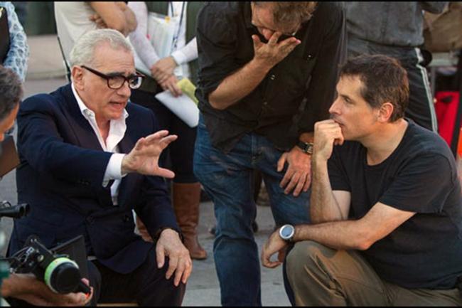 Martin Scorsese, junto al cinefógrafo Rodrigo Prieto, durante una de sus colaboraciones.