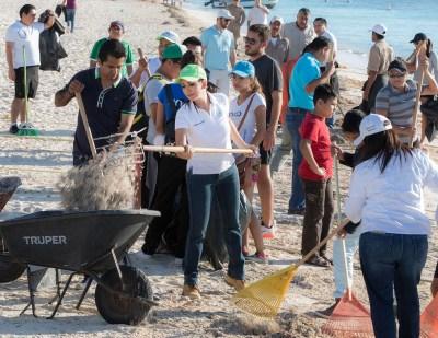 001 limpieza playas Puerto Morelos