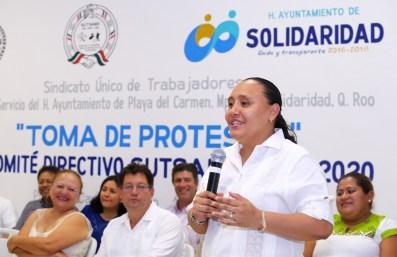 TOMA DE PROTESTA SINDICATO DE TRABAJADORES DEL AYUNTAMIENTO (3)