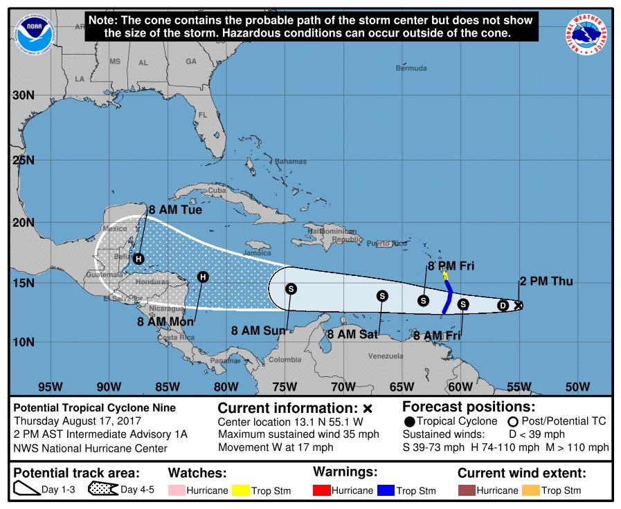 Guatemala monitorea trayectoria de tormenta Harvey