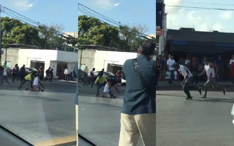 FUERTES IMÁGENES Joven es apuñalado brutalmente en Cancún