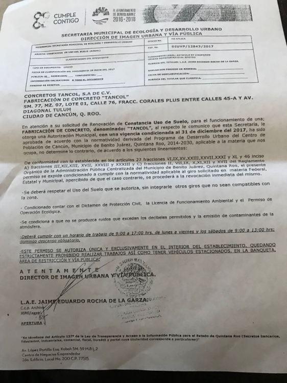 Bloqueo-permiso municipal