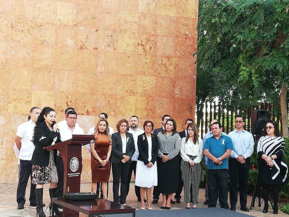 Protestan jueces y magistrados de Guanajuato, denuncian campaña de desprestigio