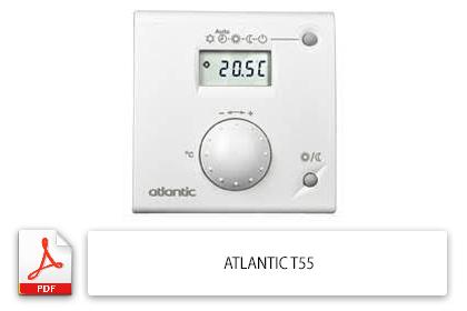Notice Thermostat Atlantic T55 Notice Utilisation