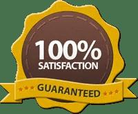 Satisfaction guarantee badge | Noticedwebsites