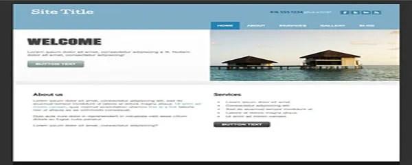 Clean, custom website design example | Noticedwebsites
