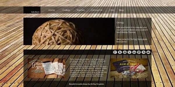 Funky custom website design example   Noticedwebsites