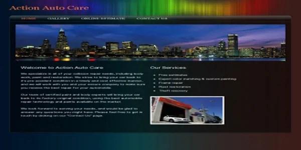 Colourful custom website design example | Noticedwebsites
