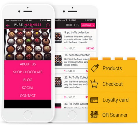 Mad Chocolate mobile business app | Noticedwebsites