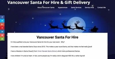 New Website Design For Vancouver-Santa.com