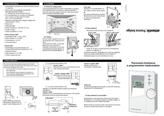 Thermostat Atlantic Ref 087079 Pdf Notice Manuel D Utilisation
