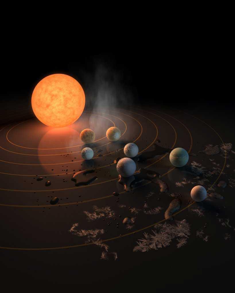 NASA ha encontrado 7 planetas del tamaño de la Tierra