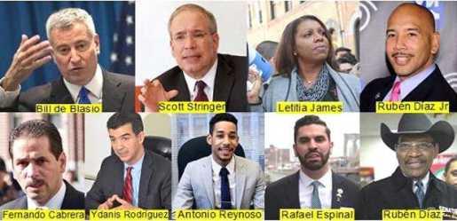 Candidatos favoritos ganar elecciones  en Nueva York