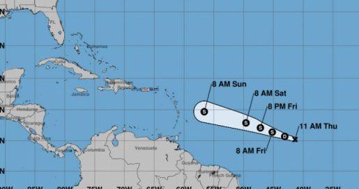 depresión tropical número dos