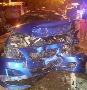 Cinco fiscales resultaron heridas en accidente de tránsito