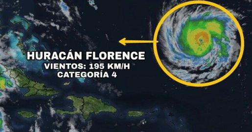 Con Florence en categoría 4, Carolina del Sur ordena evacuar su costa